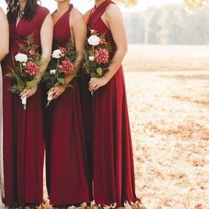 Lulus x-small wrap bridesmaid dress